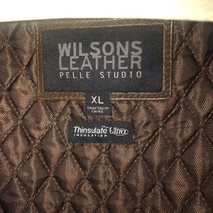 Wilson brown leather XL Jacket